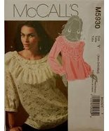 McCall's Pattern 5930 Size (Xsml-Sml-Med) Misses' Tops'. - $14.70