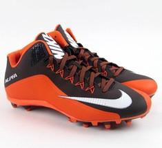 Nike Alpha Pro 2 3/4 TD Men's 14 Football Cleats Orange/Dark Brown 72944... - $34.95