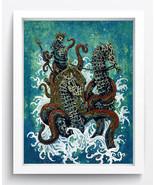 "Cartoon Art ""Neptune"" Oil Painting Print On Canvas Decor Art No Framed - $11.83+"