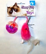 North American Pet - Classy Kitty Cat Toy Mice with Plastic Ball NIP 42108