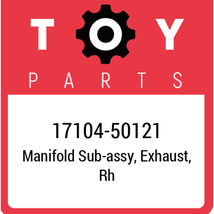 17104-50121 Toyota Exhaust Manifold Rh, New Genuine OEM Part - $280.77