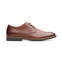 Clarks Atticus Lace Mens Oxford Shoes Mahogany Leather 26136156 - $70.40
