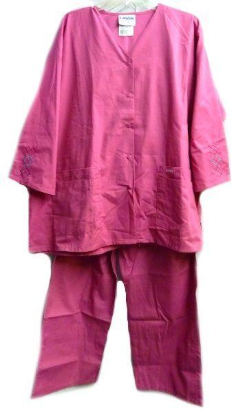 Landau Scrub Set Freesia 2XL V Neck Top Drawstrng Pants Women's Discontinued image 9