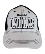 Dallas Solid Front Air Mesh Back Adjustable Baseball Cap (White/Black) - $12.95
