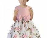 Posh Pink/White Floral Embroidered Flower Girl Holiday Dress, Crayon Kids USA