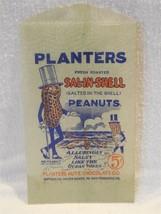 Vintage 1930's Planters Peanut Mr Peanut Glassine Sal-N-Shell 5 Cent Bag - $10.95