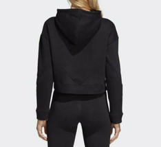 MED  adidas  Women's  reg fit  CROPPED   CLRDO   PULLOVER  HOODIE   BLAC... - $98.74