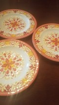 3 orange small plastic plates - $29.72