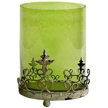 """FantasticDecor Glass Hurricane Candle Holder w/Stand Green 14"""" - $74.24"""