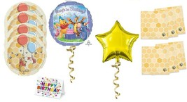 Winnie The Pooh Plates Napkins Party Pack 1st Birthday Balloon Decoration Cake - $22.72