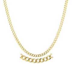 "14K Yellow Gold 2.4mm Solid Cuban Link Chain, 20"" & 24"" Available - $343.97"