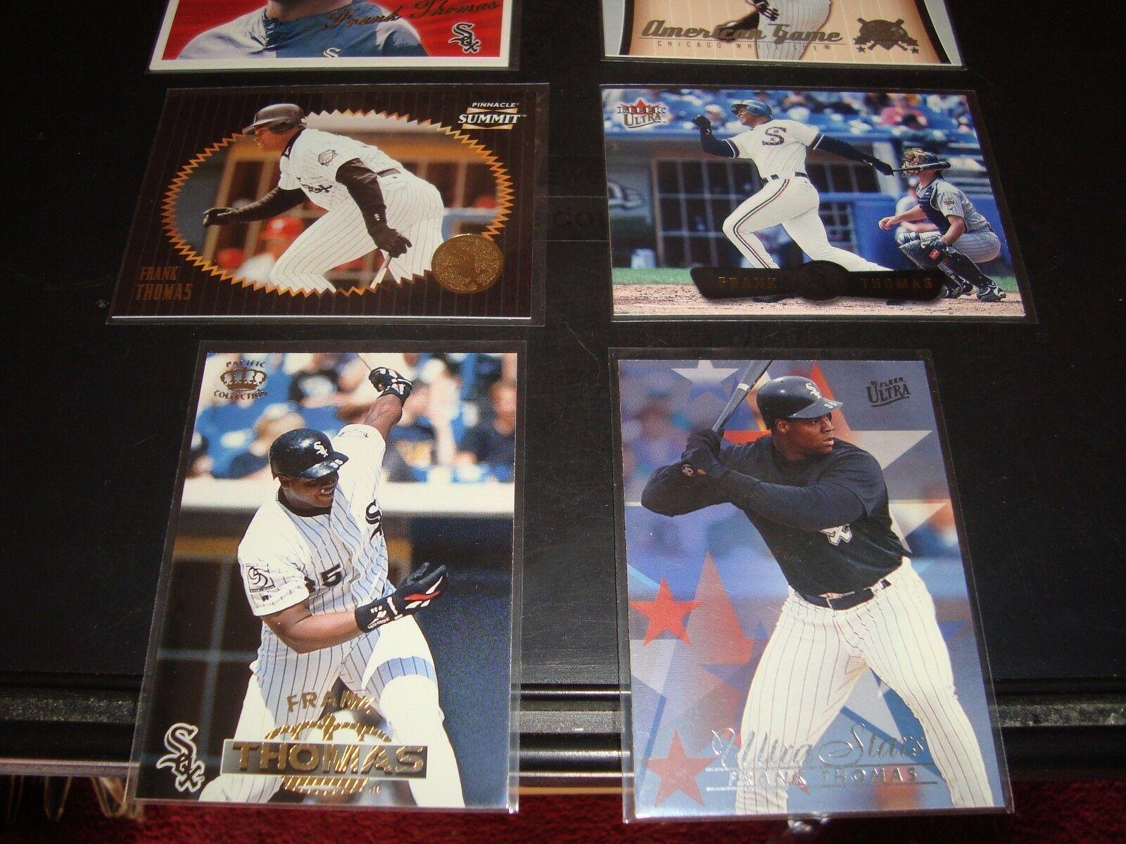 Frank Thomas Quantity 8 Baseball Card Lot Chicago White Sox Mint Condition
