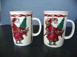 Kris Kringle Potpourri Press Coffee Cup Made In Korea Santa Claus - set ... - $9.85