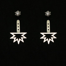 Silver Spike Sun Ear Jacket Stud Earring - $25.00