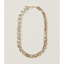NEW Ann Taylor LOFT Beautiful Luxurious Gallery Set Crystal Gold Shine Necklace - $39.99