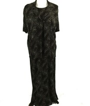 KSL Karin Stevens Sleeveless Maxi Dress and Jacket Size 14W Brown Animal... - $31.67
