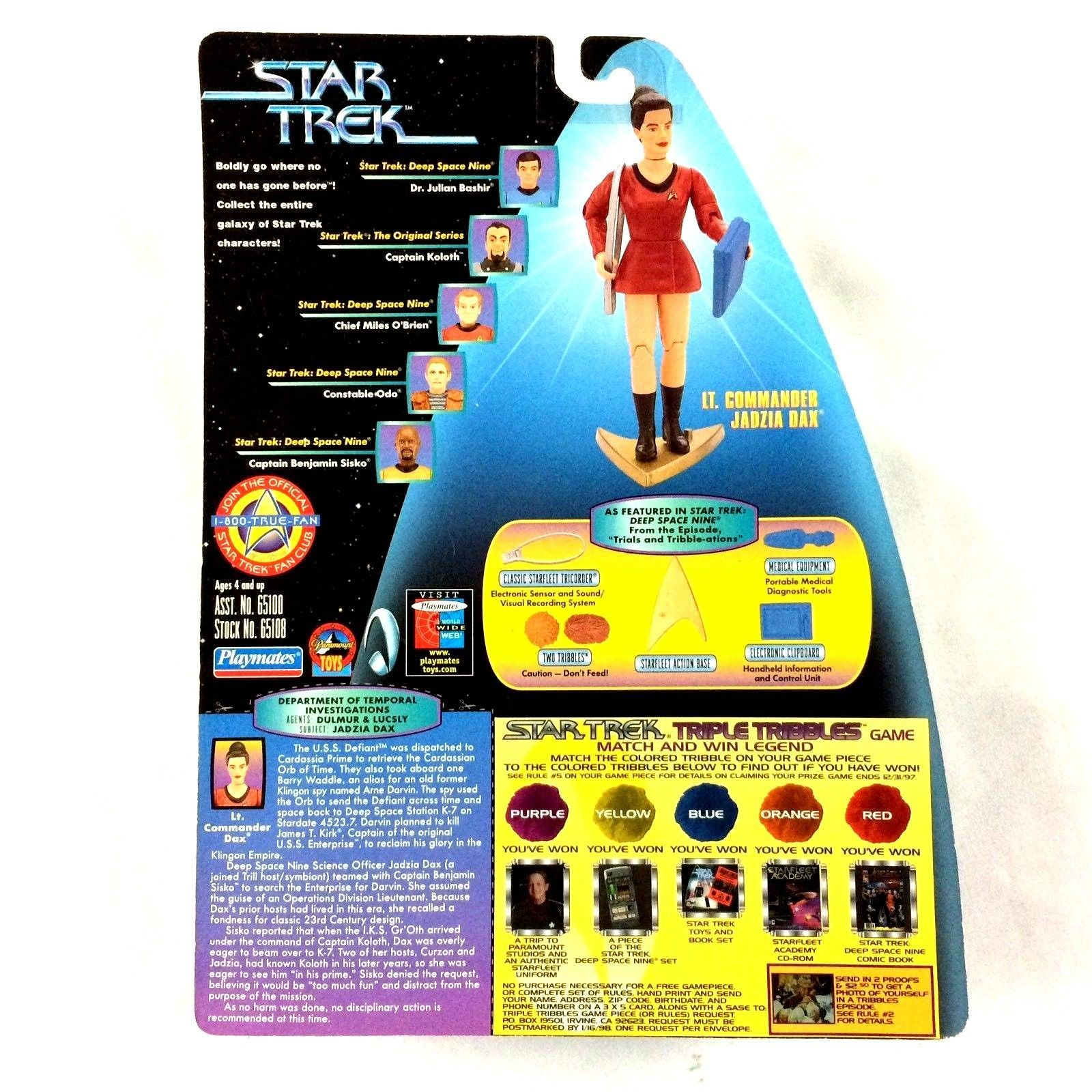 Star Trek DS9 Jadzia Dax Action Figure Trials and Tribble-ations TV