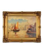 Vintage Oil Painting, Painting in Gold Frame, Elegant Wedding Gift, Anti... - $279.00