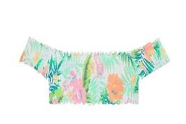 Victoria's Secret Pink Smocked OFF-THE-SHOULDER Bikini Swim Top Pink Floral S - $29.69