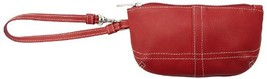 Piel Leather Ladies Wristlet, Red, One Size - $35.95