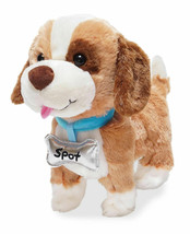 Cuddle Barn Talks & Walks Plush Toy 10in Dog My Favorite Pet Spot  - $19.77