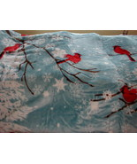 SHAVEL - CARDINAL and-SNOWFLAKES !  Hi Pile Oversized Fleece Throw! - $38.60