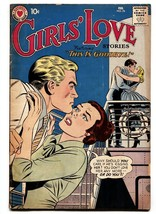 GIRLS LOVE STORIES #76 comic book 1961-ROMANCE cruise cover-LOVE TRIANGL... - $27.74