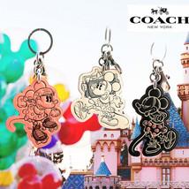NWT COACH DISNEY Minnie Mouse Rollerskate Bag Charm Leather Key Chain Cu... - $39.60+