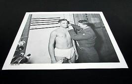 "Vintage 8""x10"" Black & White "" ELVIS PRESLEY "" Military Recruit Weigh In... - $5.58"