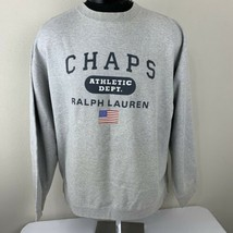 Vintage Ralph Lauren Chaps Sweatshirt Spell Out Flag Crewneck Large Polo... - $34.00