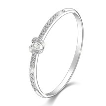 "Menton Ezil ""Princess"" Womens Bracelets Silver Bangle Made with Swarovsk... - $52.38"