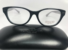New Authentic COACH HC 6029 5002 Black Susie Eyeglasses 51/17/135 with Case - $90.26