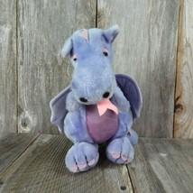 Vintage Dragon Plush Purple Dakin Pink Blue Stuffed Animal 1983 Toy Doll - $59.39