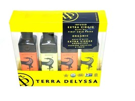 Terra Delyssa Olive Oil Extra Virgin Four Bottles Garlic Lemon Rosemary ... - $30.00