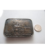 McCloud California depicting Steam Locomotive Belt Buckle  - $15.00