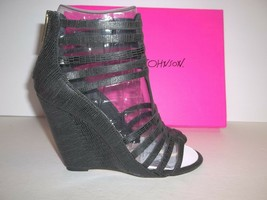 Betsey Johnson Size 8.5 Black Wedge Sandals New Womens Shoes - $88.11
