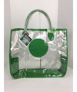 New Michael Kors Get-Away Tote Clear Bag Extra Large Transparent Green M... - $83.29