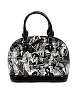 Michelle Obama Printed Black Magazine Cover Collage Dome Satchel - Mod PA0019  - $59.99