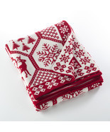 Fennco Styles Sevan Collection Knitted Christmas Design Throw Blanket - £38.92 GBP