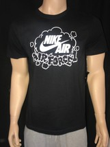 Nike Air Force 1 AF1 Cloud T-shirt Tee Black Size M - $22.00