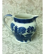 Antique,Rare,  Allerton, Blue Willow, 5.5in H x 7in W Pitcher-Jug - $71.20