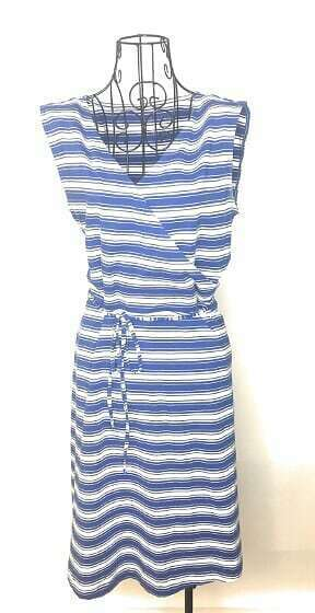 Primary image for Talbots White Blue Striped Midi Dress