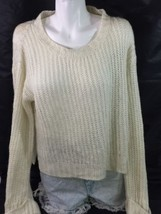 no boundaries Cream Color Women's Blouse Size XL (15-17) Long Sleeve Bin34#1 - $12.19
