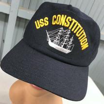 USS Constitution Naval Ship VTG Snapback Baseball Cap Hat New Era Made I... - $18.35