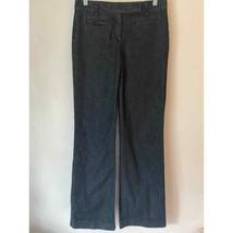 Talbots heritage boot cut 4 jean trouser dark rinse stretch - $23.76