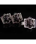 LARGE Scarab cufflinks / lion set - Egyptian beetle / vintage insect set... - $175.00