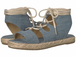 MICHAEL Michael Kors Mckenna Lace-Up Sandals Washed Denim Mult Sizes - $69.99