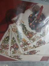 Something Special Christmas Scroll Place Mats Counted Cross Stitch Kit Makes 4 1 - $19.79