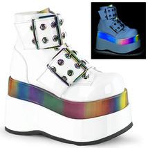 Demonia BEAR-104 Women's Ankle Boots BEAR104/WPT-RBOWREFL - $116.95