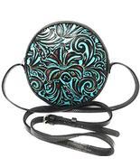 Patricia Nash Scafati Turquoise Tooled Crossbody - $164.64